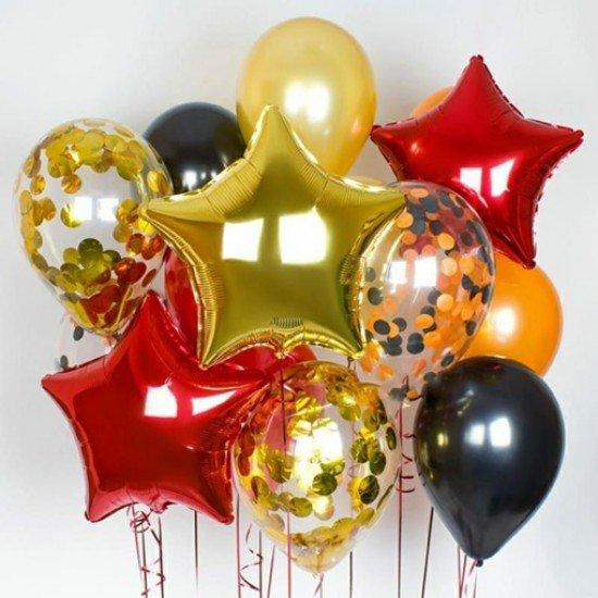Композиция из воздушных шаров Яркая осень