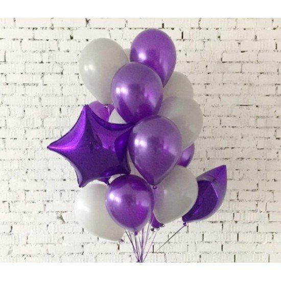 Композиция из воздушных шаров Фиолетовое наслаждение