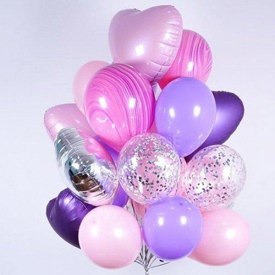 Композиция из воздушных шаров Ультрафиолет