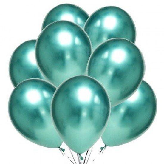 Облако воздушных шаров Хром Зеленый