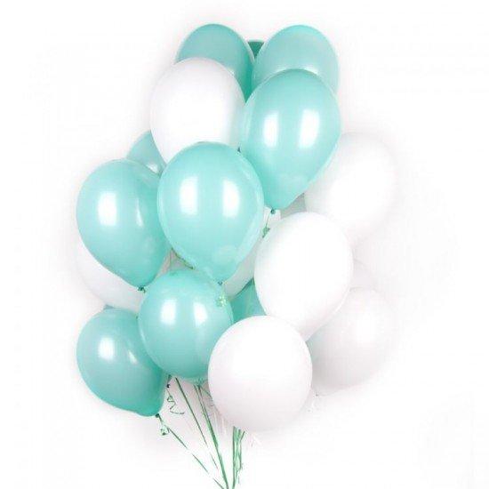 Композиция из воздушных шаров Бирюза