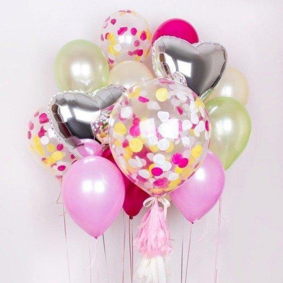 Композиция из воздушных шаров Розовая мечта