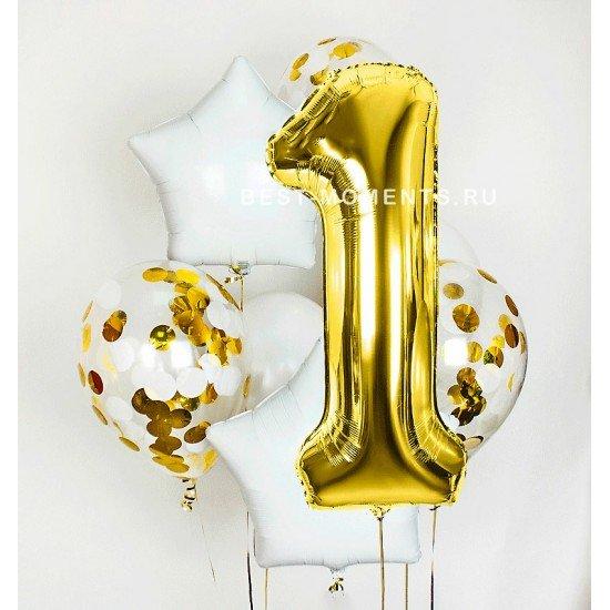 Композиция из воздушных шаров Нежность