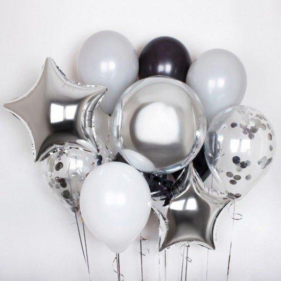 Композиция из воздушных шаров Стальной дух