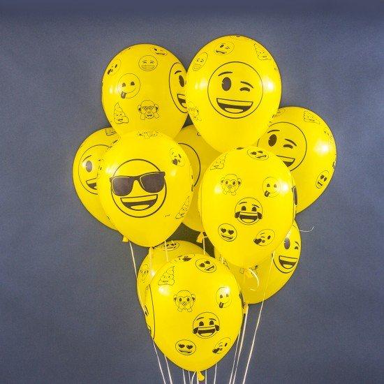Облако воздушных шаров Смайл Emoji