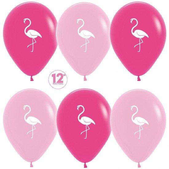 Облако воздушных шаров Фламинго
