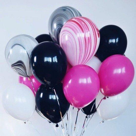 Композиция из воздушных шаров Мрамор