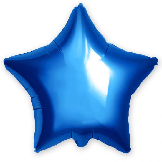 Звезда из фольги синяя, 81см