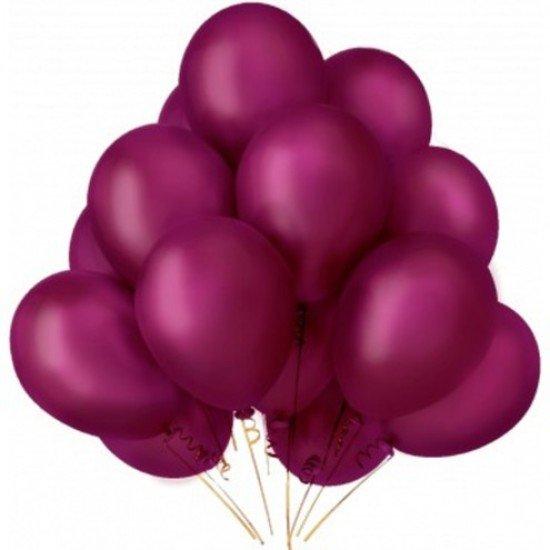 Облако воздушных шаров Бургундия Металлик