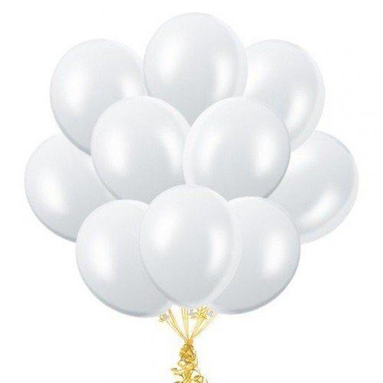 Облако Белых воздушных шаров Металлик