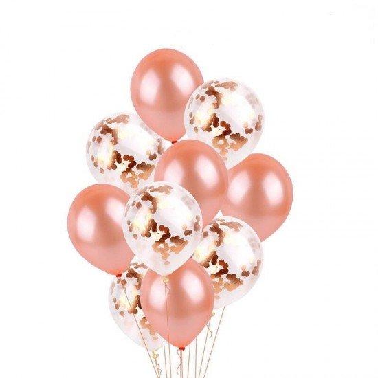Композиция из воздушных шаров Розовое золото