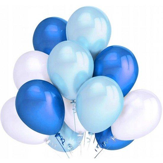 Облако Белых, Синих и Голубых воздушных шаров