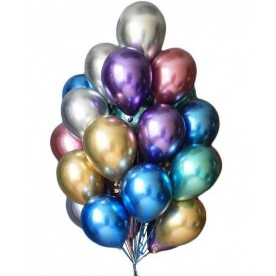 Облако воздушных шаров Хром Ассорти