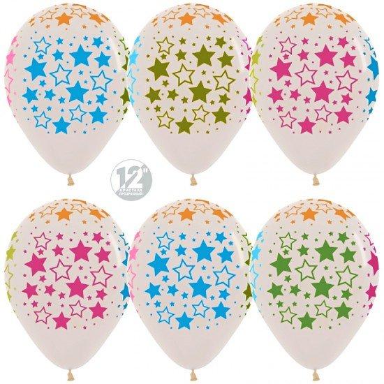 Облако воздушных шаров прозрачные со звездами