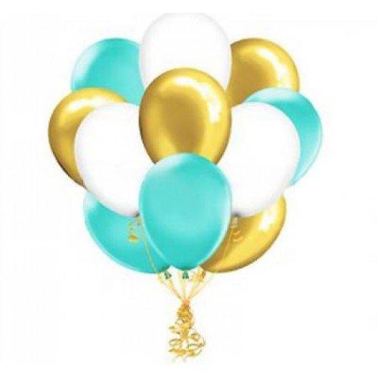 Облако воздушных шаров Тиффани, Золото и Белых