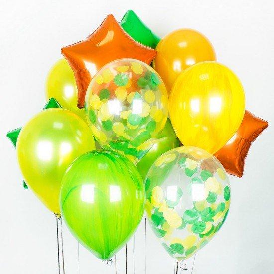 Композиция из воздушных шаров Летние краски