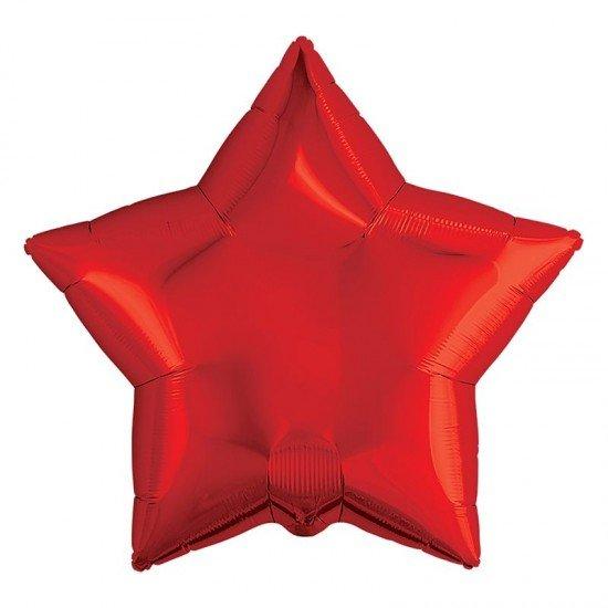 Звезда из фольги Красная, 81 см