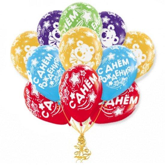 Облако воздушных шаров С Днем Рождения Мишка