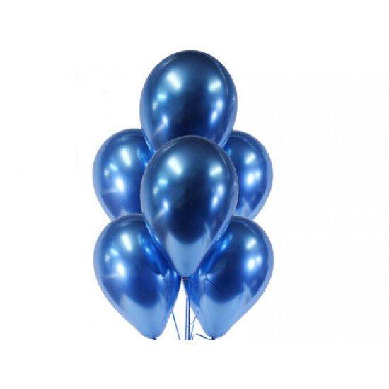 Облако воздушных шаров Хром Синий