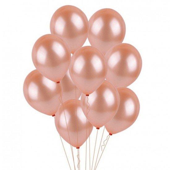 Облако воздушных шаров Розовое Золото Металлик