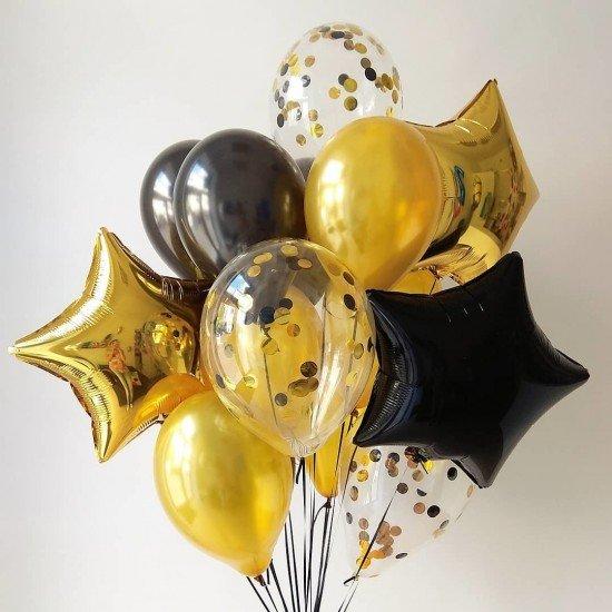 Композиция из воздушных шаров Золото
