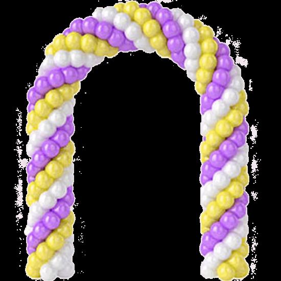 Арка из воздушных шаров Сиреневое небо