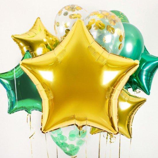 Композиция из воздушных шаров  Звездное настроение