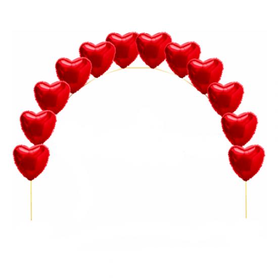 Гирлянда из фольгированных сердец