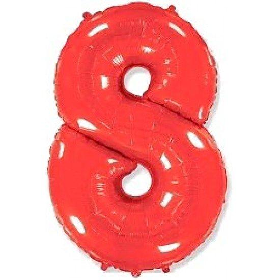 """Шар """"Цифра 8"""" Красная, 102 см"""