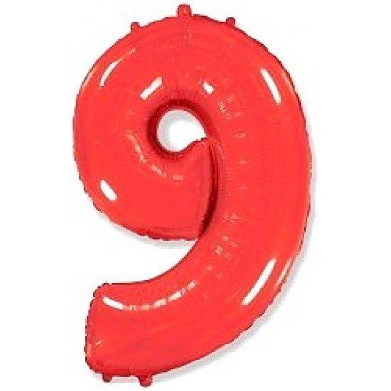 """Шар """"Цифра 9"""" Красная, 102 см"""