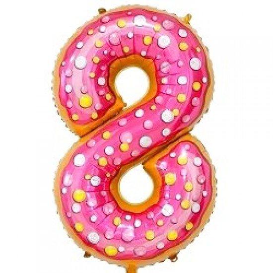 "Шар ""Цифра 8"" Пончик, 86 см"