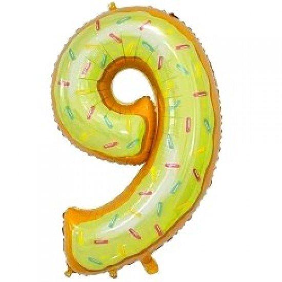"Шар ""Цифра 9"" Пончик, 86 см"