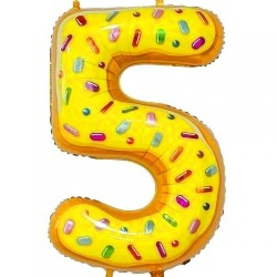 "Шар ""Цифра 5"" Пончик, 86 см"