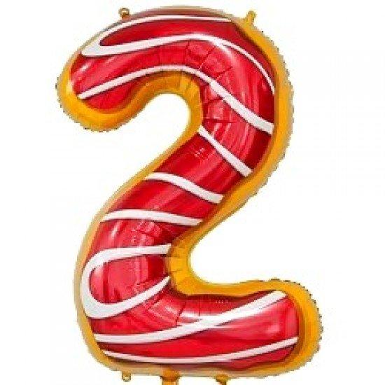 "Шар ""Цифра 2"" Пончик, 86 см"