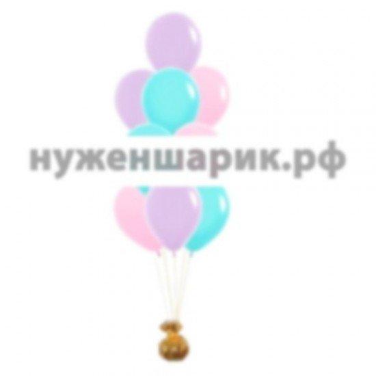 Фонтан из Розовых, Тиффани и Сиреневых воздушных шаров