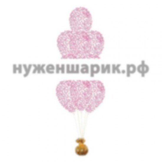 Фонтан из Прозрачных воздушных шаров с Конфетти Фуше