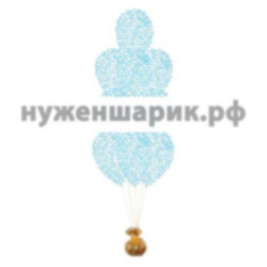 Фонтан из Прозрачных воздушных шаров с Конфетти Тиффани