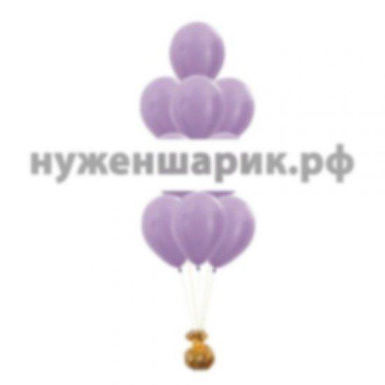 Фонтан из Сиреневых воздушных шаров Металлик
