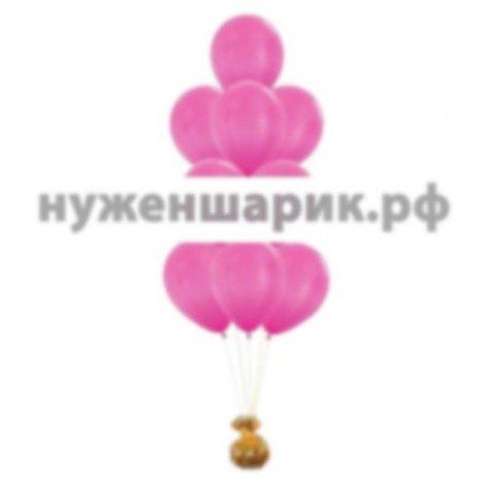 Фонтан из Розовых воздушных шаров Металлик
