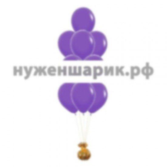 Фонтан из Фиолетовых воздушных шаров Пастель
