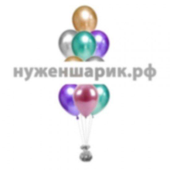 Фонтан из воздушных шаров Хром Ассорти