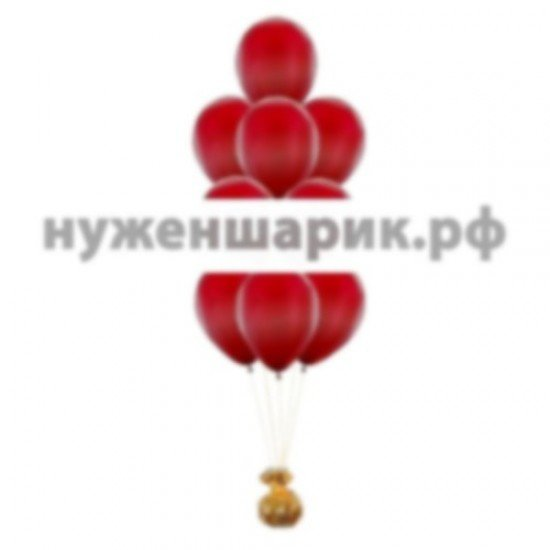 Фонтан из воздушных шаров цвета Бургундия Металлик