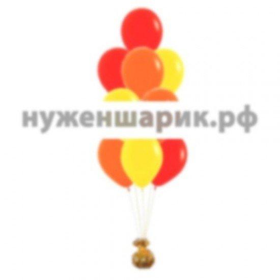 Фонтан из Красных, Желтых и Оранжевых воздушных шаров