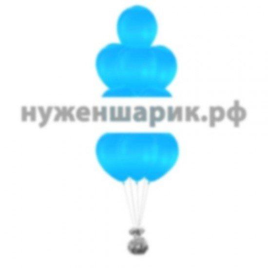 Фонтан из Голубых воздушных шаров Металлик