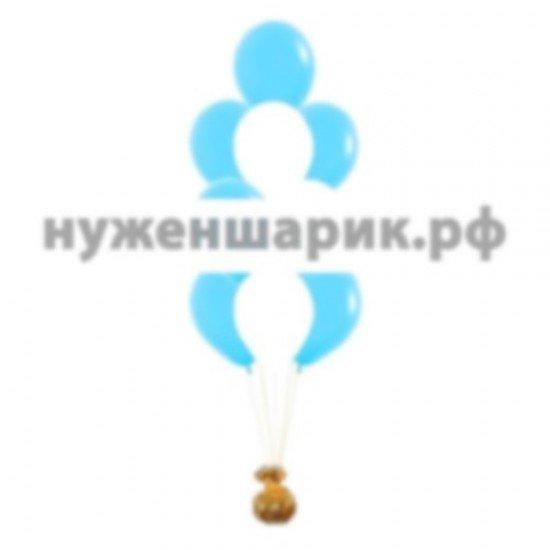 Фонтан из Белых и Голубых воздушных шаров