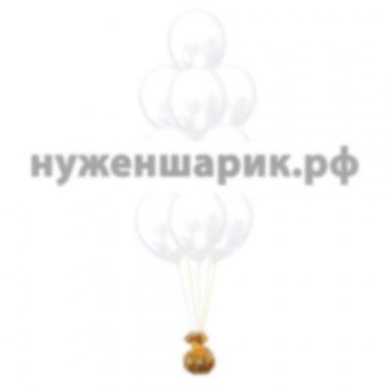 Фонтан из Белых воздушных шаров Металлик