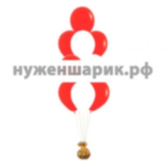 Фонтан из Белых и Красных воздушных шаров