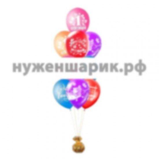 Фонтан из воздушных шаров 1 Сентября