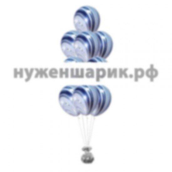 Фонтан из мраморных Черно-Белых воздушных шаров
