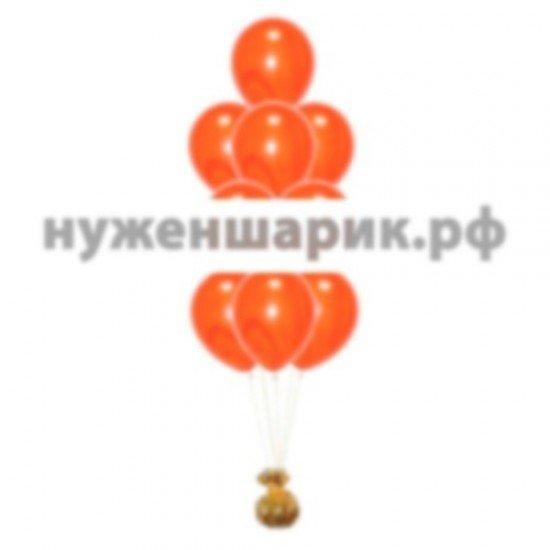 Фонтан из мраморных Оранжевых воздушных шаров